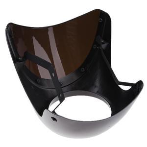 Image 3 - รถจักรยานยนต์ด้านหน้าไฟหน้าFairingกระจกกระจกพลาสติกUniversalสำหรับCafe RACERรถจักรยานยนต์Retroไฟหน้าหน้าจอลม