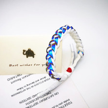 Star studded, trendy little lion Bracelet holographic reflective hand woven Bracelet student couple meet Bracelet 2019 moon star rhinestone studded bracelet watch