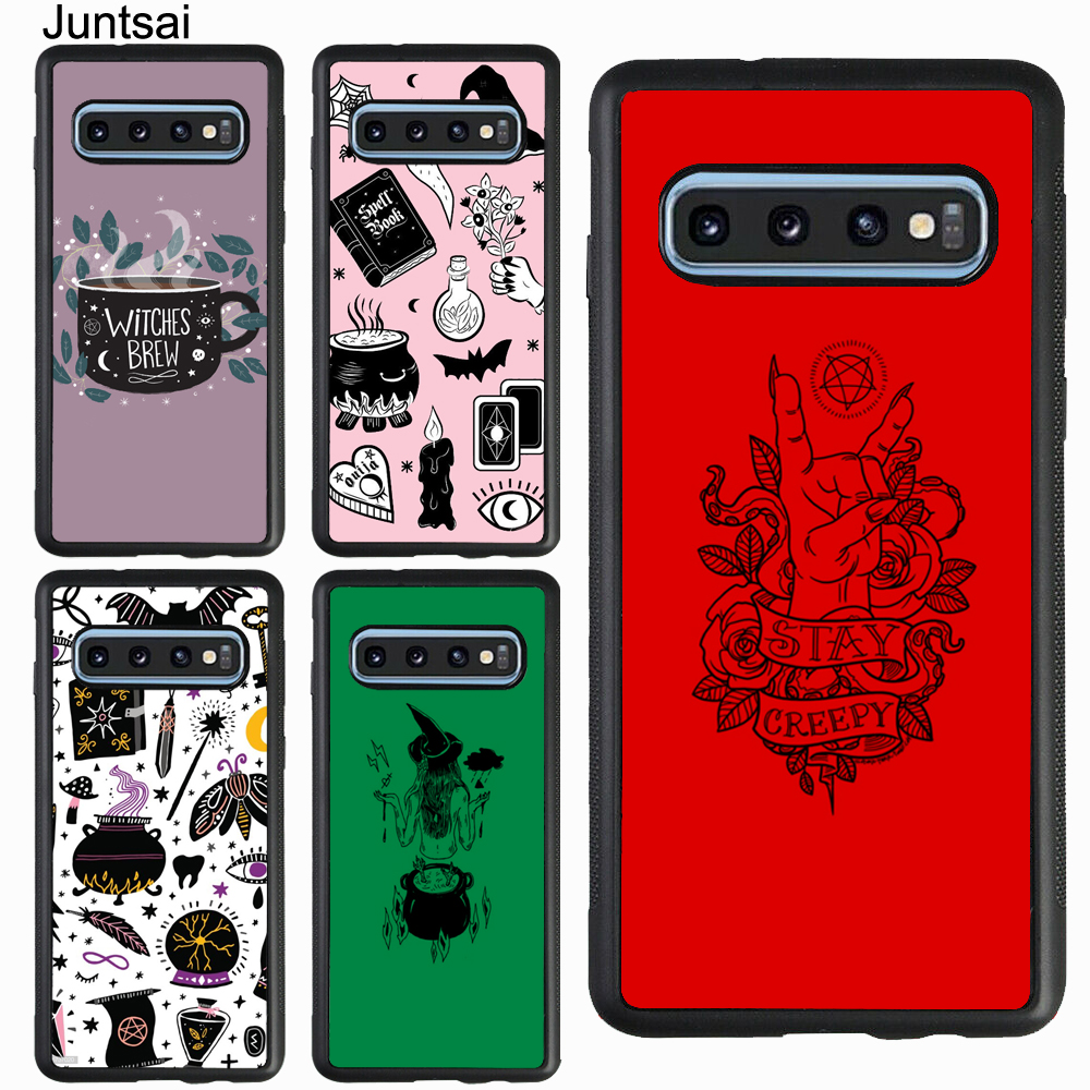 Juntsai Witch Aesthetic Art Case For Samsung Galaxy S10 S9 S8 S20 Plus S10e A10 A30 A40 A50 A70 Note 10 9 8 Fitted Cases Aliexpress