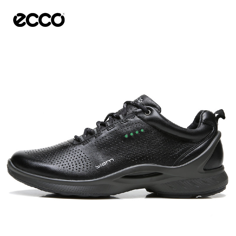 Driving-Shoes Casual-Shoes ECCO Black Men Genuine-Leather New on Slip Brand 837514 Breathable