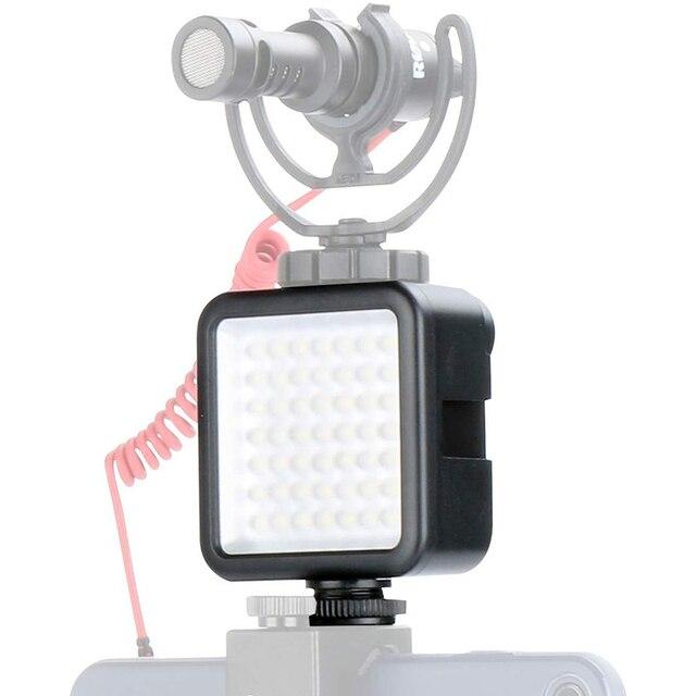 Painel de luz de led ultra brilhante, com sapato frio para gopro hero 8 7 6 5 nikon sony dslr dji conjunto de acessórios da câmera de ação osmo
