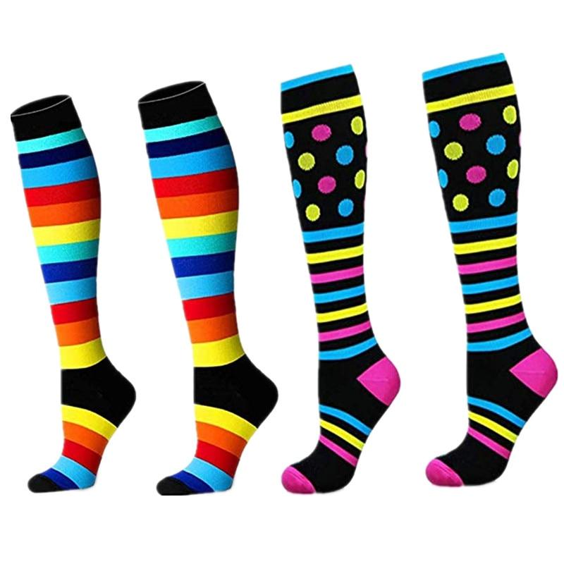Antifatigue Unisex Compression Socks 15-30 MmHg Fit Running,Nurses,Flight Travel & Maternity Pregnancy -Boost Stamina Socks