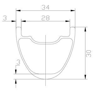 Image 2 - 1280g 29er MTB XC 34mm kancasız 30mm genişlik düz çekme hafif karbon tekerlek D411SB D412SB 6 cıvata merkezi kilit 24H disk tekerlekler