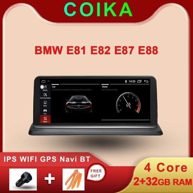 Android 10.0 System Car GPS Navi Stereo For BMW E81 E82 E87 E88 2005 2012 WIFI Google SWC BT Music 2+32G RAM IPS Touch Screen
