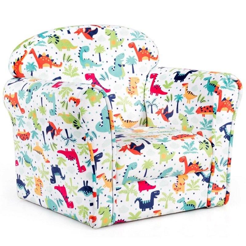 Toddler Children Armrest Cute Lovely Single Sofa Living Room Cute Dinosaur Children Furniture Kids Sofa HW61181