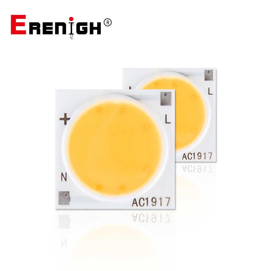 LED chipy COB 220V 3/5/7/9/12/15/20/30W Smart IC Matrix lampa układowa dla DIY Home zewnętrzny projektor oświetleniowy dekoracja biały ciepły biały