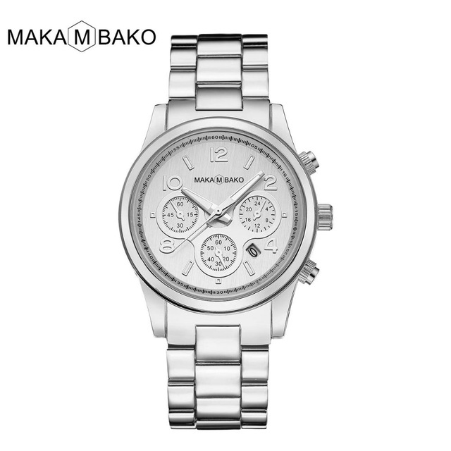 Top Brand Luxury Laides Dress Business Fashion Casual Waterproof Sliver Watches Quartz Calendar 2019 Classic Women Wristwatch