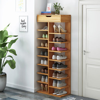 Double Row Shoe Rack scarpiera organizer Wooden Home Furniture estanteria para zapatos For Living room Shoe Cabinet With Drawer