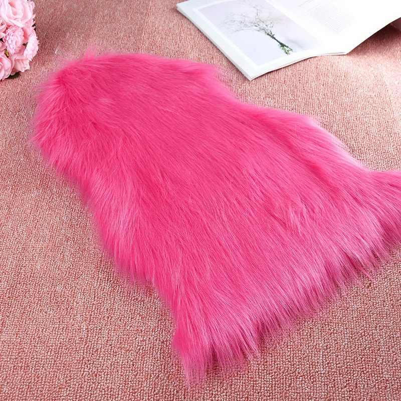 ขนสัตว์ประดิษฐ์ Sheepskin พรมห้องนั่งเล่นห้องนอนพรมพรมขนสัตว์ขนสัตว์ PLAIN Fluffy Rugs พื้นที่ซักล้างห้องนอน Faux MAT