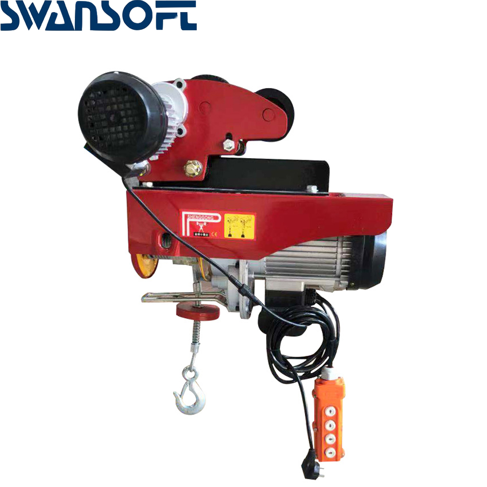 Household 220V Small Electric Crane 12m 20M 30M Miniature Electric Hoist Factory Direct Price Concessions