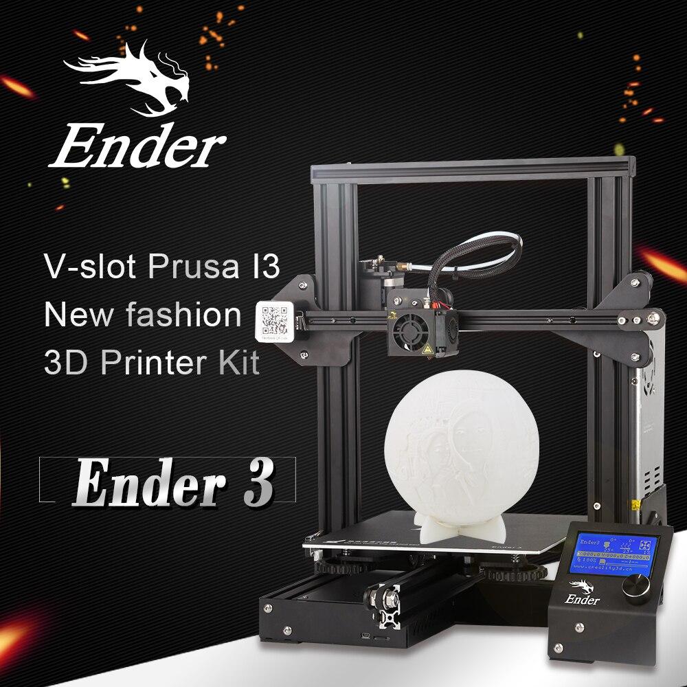 Kit de impresora 3D DIY económico Creality Ender 3 con ranura en V, nueva plataforma de impresión de fasion, más fácil de nivelar - 5