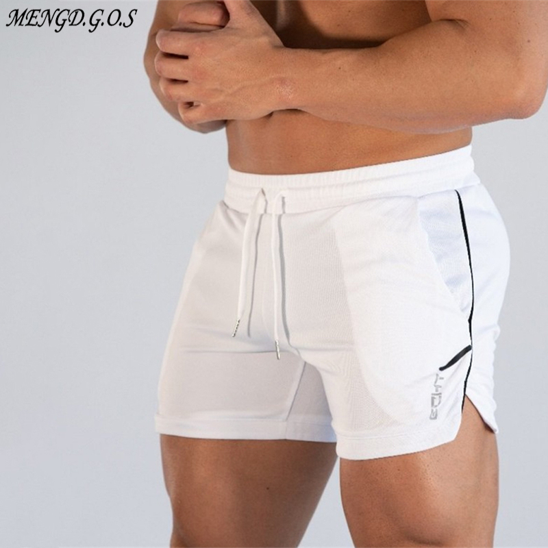 Brand Men's Shorts 2019 Summer Casual Shorts Men's Fitness Bodybuilding Shorts Men's Exercise Men's Breathable Sportswear