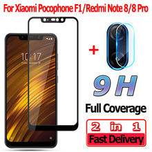 2 in 1 Screen Protector for Xiaomi Pocophone F1 Tempered Glass Redmi Note 8 Pro Camera Lens Pocophone F1 Protective Glass jjc black square camera lens hood 62mm for fujinon lens xf 23mm f1 4 r xf 56mm f1 2 r xf 56mm f1 2 r apd replaces lh xf23