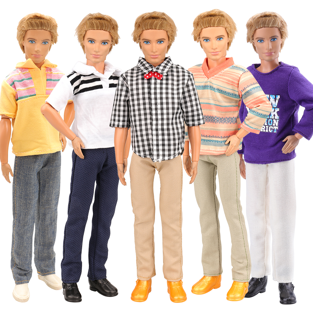 Fashion High Quality Handmade 7 Dolls Product /Set =2 Doll Shoes +Random 5 Ken Clothes For Ken DIY Birthday New Year GIFT Toys