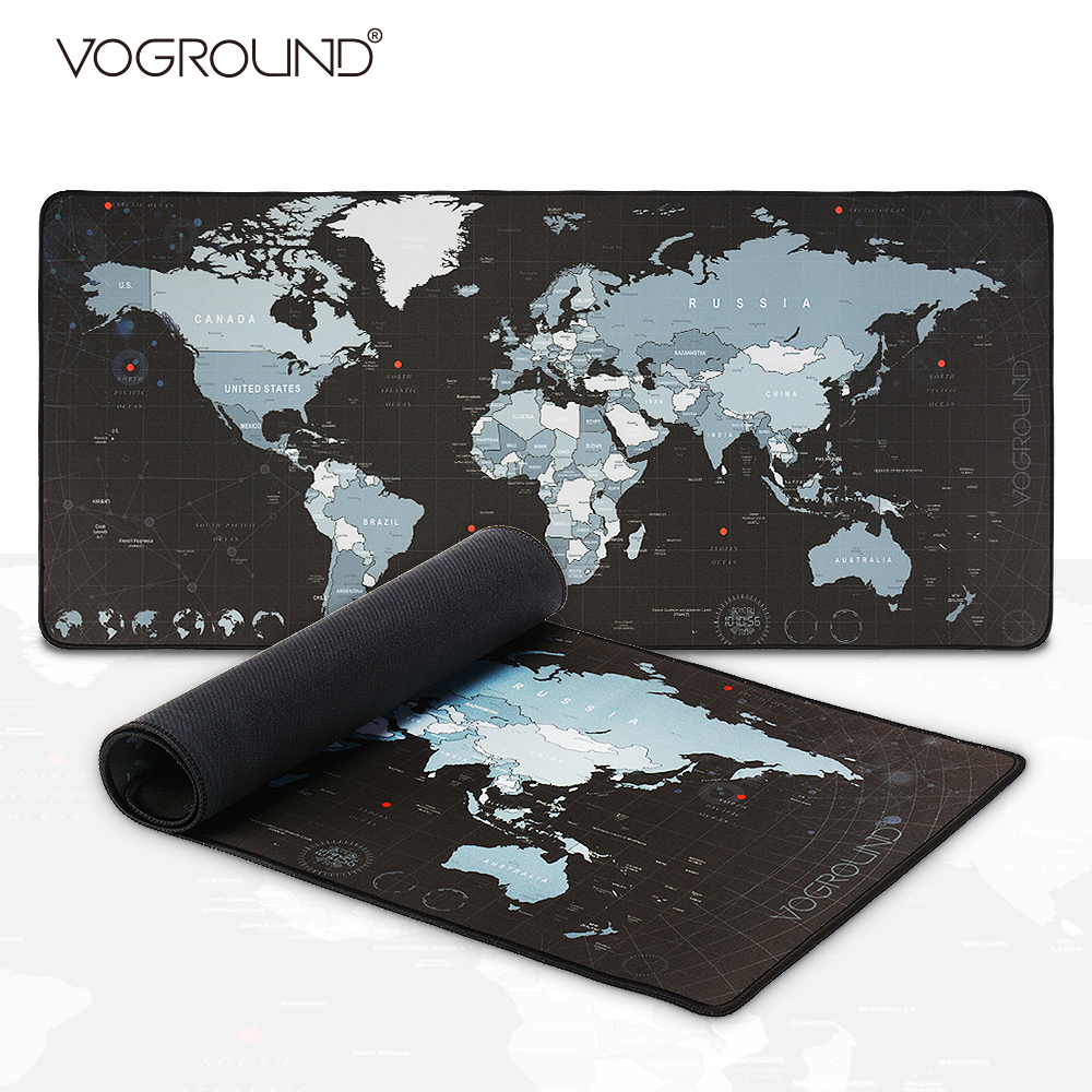 New World Map Speed Locking Edge Large Natural Rubber Mouse Pad Waterproof Game Desk Mousepad Mat For Warcraft Dota LOL