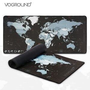 New World Map Speed Locking Edge Large Natural Rubber Mouse Pad Waterproof Game Desk Mousepad Keyboard Mat for Warcraft Dota LOL(China)
