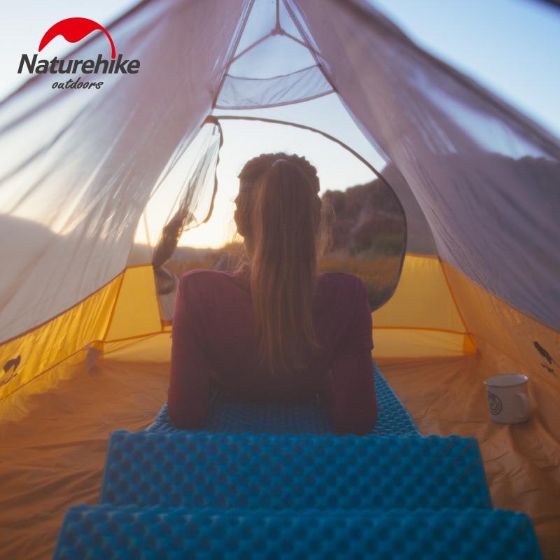 Naturehike Cloud UP 2 Сверхлегкая палатка 10D нейлоновая силиконовая портативная Самостоятельная палатка с бесплатным ковриком для походов на открытом воздухе - 5
