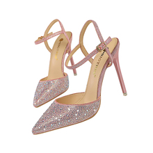 цена на Elegant Rhinestones Lady Dress Shoes Women Pumps Festival Party Wedding Shoes Formal Pumps Stilettos High Heels Sandals FIS109