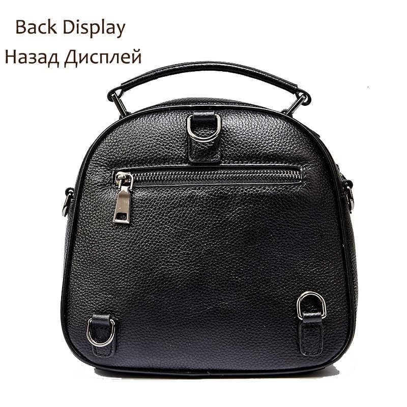 QIWANG черный кожаный рюкзак женская модная сумка на плечо роскошные Молодежные рюкзаки кошелек Женская дорожная сумка маленький рюкзак для девочки