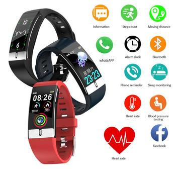 E66 Smart Watch Thermometer Touch Screen Heart Rate Blood Pressure Sports Tracker Fitness For IOS Android Waterproof Bracelet