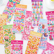 Colorful Ribbon Kawaii Laser PVC Sticker Scrapbooking Decorative Korean DIY Diary Album Stick Cute Stationery Planner Stickers
