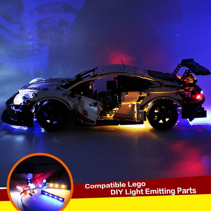 2020 NEW DIY Light Up Kit Compatible For LEGO 42096 Technical Series Porsche 911 RSR Lighting Blocks