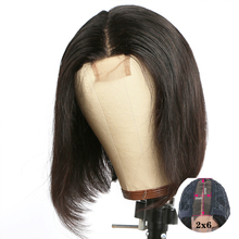 Short Bob Wig 2x6 Lace Closure Wig Human Hair Wigs For Women Remy Brazilian With Natural Pre Plucked Hairline Lace Front Wig