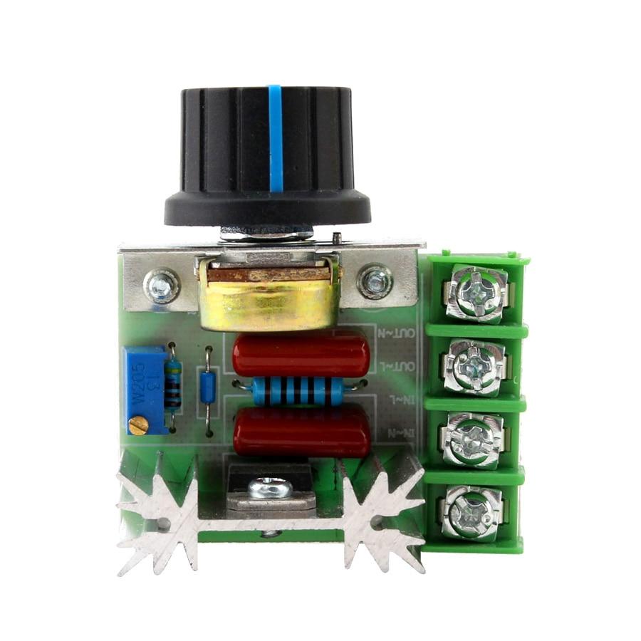 220V Dimmer Controller Dimer 2000W Speed Electronic Thermostat Motor Controller Lighting Brightness SCR Volt Regulator Dimmers