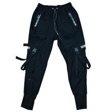 Мужские свободные спортивные штаны от Harlan, мужские черные штаны-шаровары в стиле хип-хоп, уличная одежда с карманом, повседневные мужские штаны в стиле хип-хоп, M-2XL