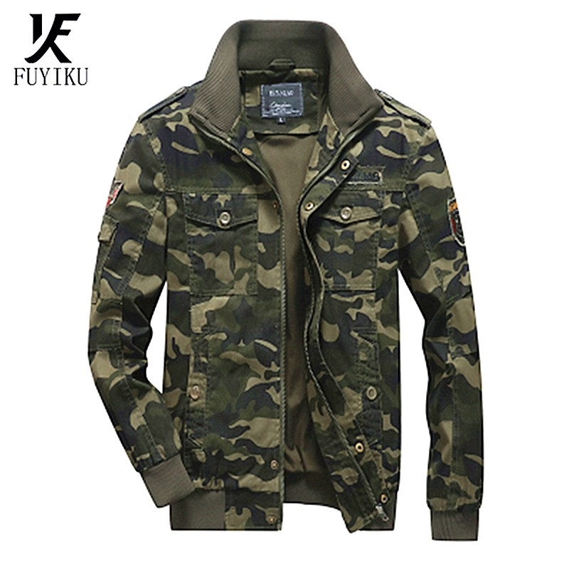 2020 autumn <font><b>winter</b></font> men's <font><b>jacket</b></font> <font><b>Military</b></font> <font><b>Style</b></font> Men's <font><b>jacket</b></font> camouflage tactical men's coat flying men's <font><b>jacket</b></font> fashion men's top image