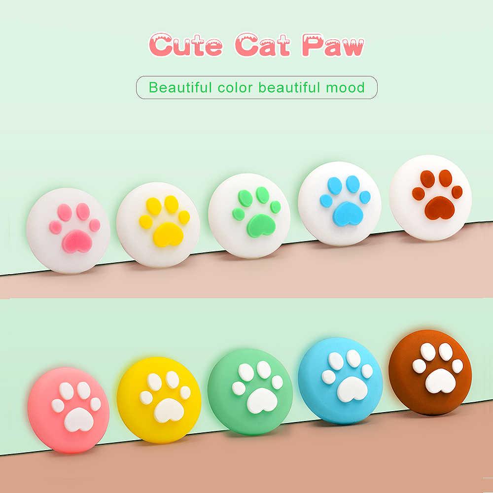 Funda con control de Joy-con diseño de Animal, control Kawaii Joy Stick, funda con botón y tapa de botón