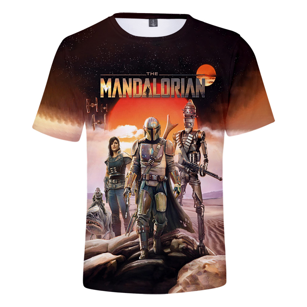 Mandalorian Custom Tshirt Men Women Lovely Baby Yoda Shirt Fashion Short Sleeved 3D Tshirt Printed Pattern K-pop Officiall Store