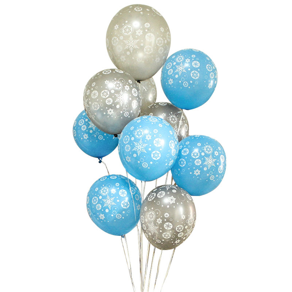 <font><b>10</b></font>/20/50pcs 12inch 2020 New Frozen Snowflake Latex Balloon <font><b>Birthday</b></font> Wedding Christmas Party <font><b>Decorations</b></font> Unicorn Party image