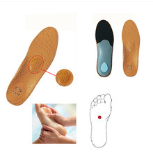 Premium Leather Orthotic Flat Foot Shoe Insoles High Arch Support Orthopedic Pad for Correction OX Leg Health foot Care