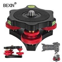 Tripod Speedy Leveling Base Leveler Adjusting Base Panning Level Plate With Bubble Level For Canon Nikon DSLR Camera Tripod