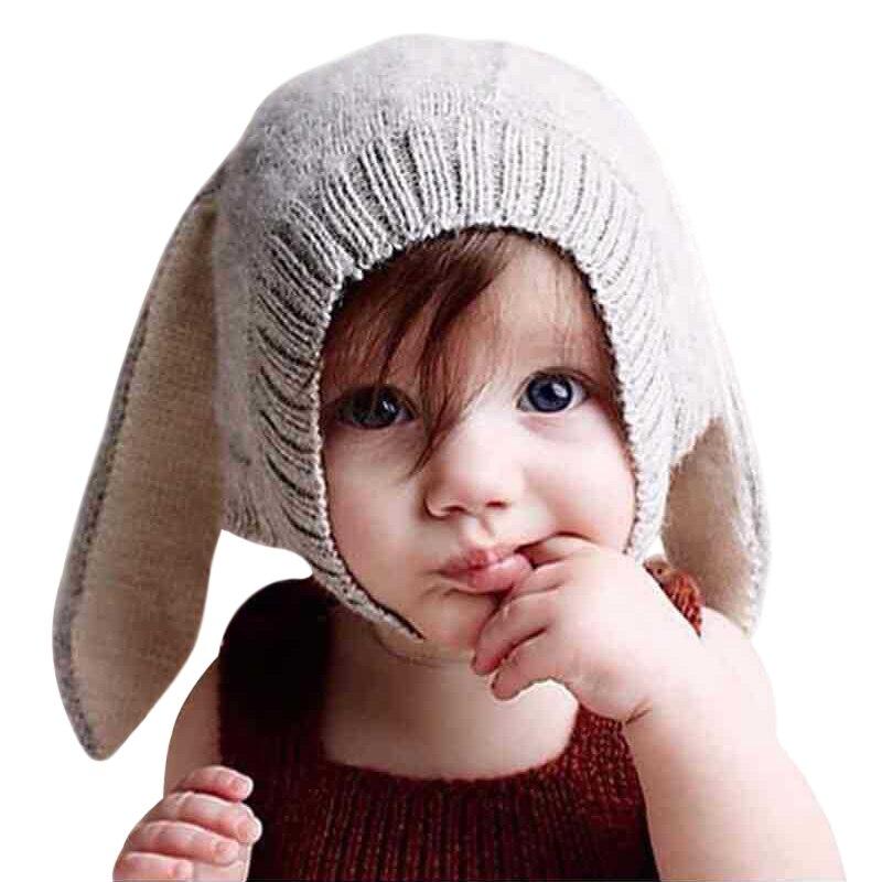 Детская шапка с милыми животными, теплая вязаная шапка для новорожденных с кроличьими ушками для младенцев, шапка для маленьких мальчиков и...