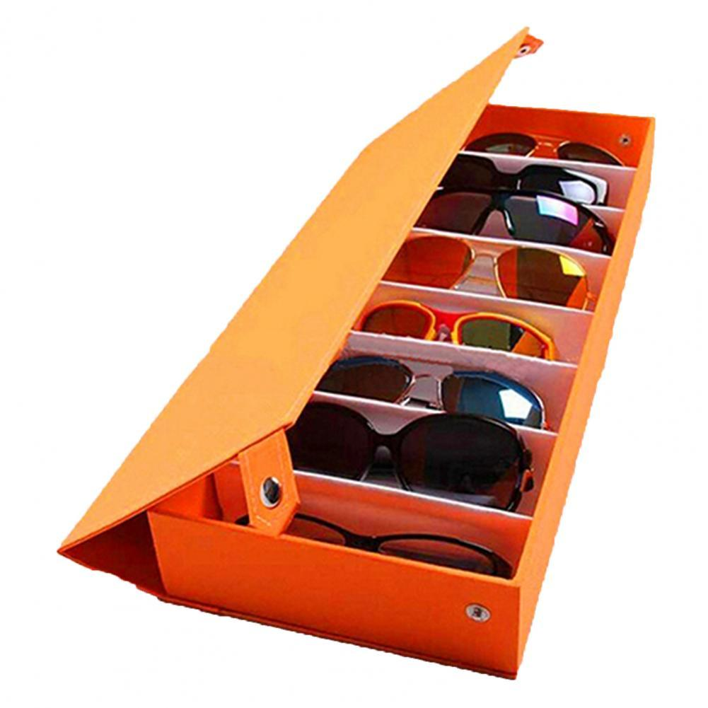 Estuche de almacenamiento para gafas de sol de 8 rejillas, caja de exhibición de gafas de sol, herramienta para ordenar, gran oferta, 50%