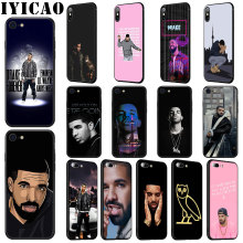 IYICAO Rapper Drake Soft Silicone Case for iPhone 11 Pro Max XR X XS 6 6S 7 8 Plus 5 5S SE Phone