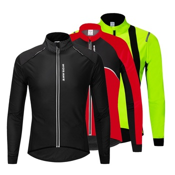 WOSAWE Winter Cycling Jacket Windproof Thermal Keep Warm Mountain Bike Jacket Coat Outdoor Sports Bicycle Snowboarding Clothes wosawe men s winter thermal fleece windproof cycling jacket mtb bike bicycle coat waterproof sports clothing