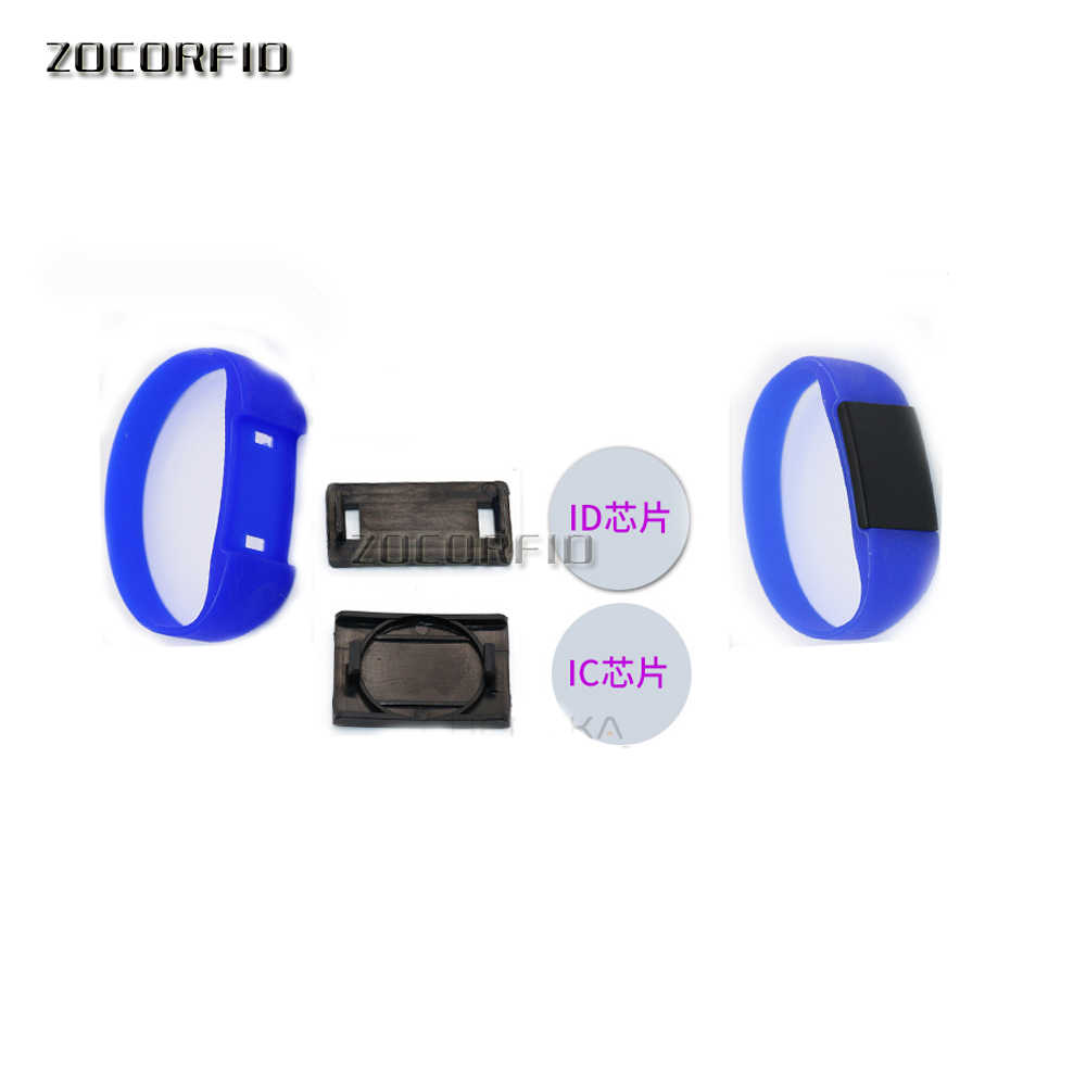 Pulsera RFID de silicona reescribible 13,56 Mhz, UID cambiable MF 1K S50 NFC