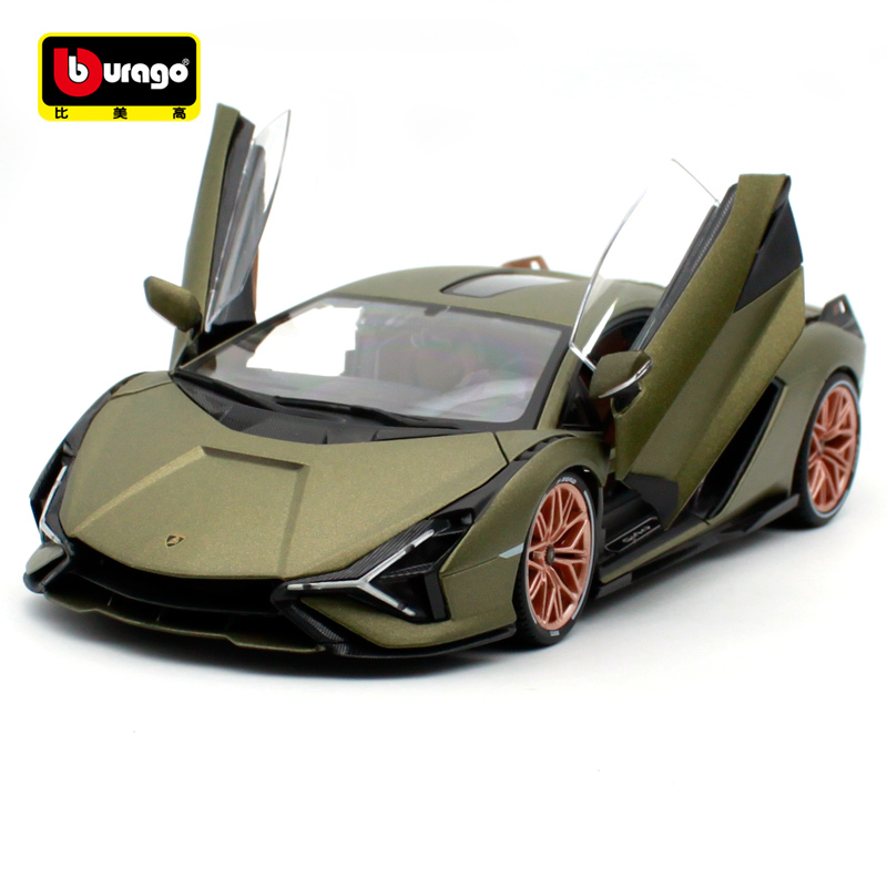 Bburago 1:18 Lamborghini Sian FKP 37 Sports Car Diecast Shape Car Collect Toy Car New Boxes Are Shipped Free Of Charge 11046