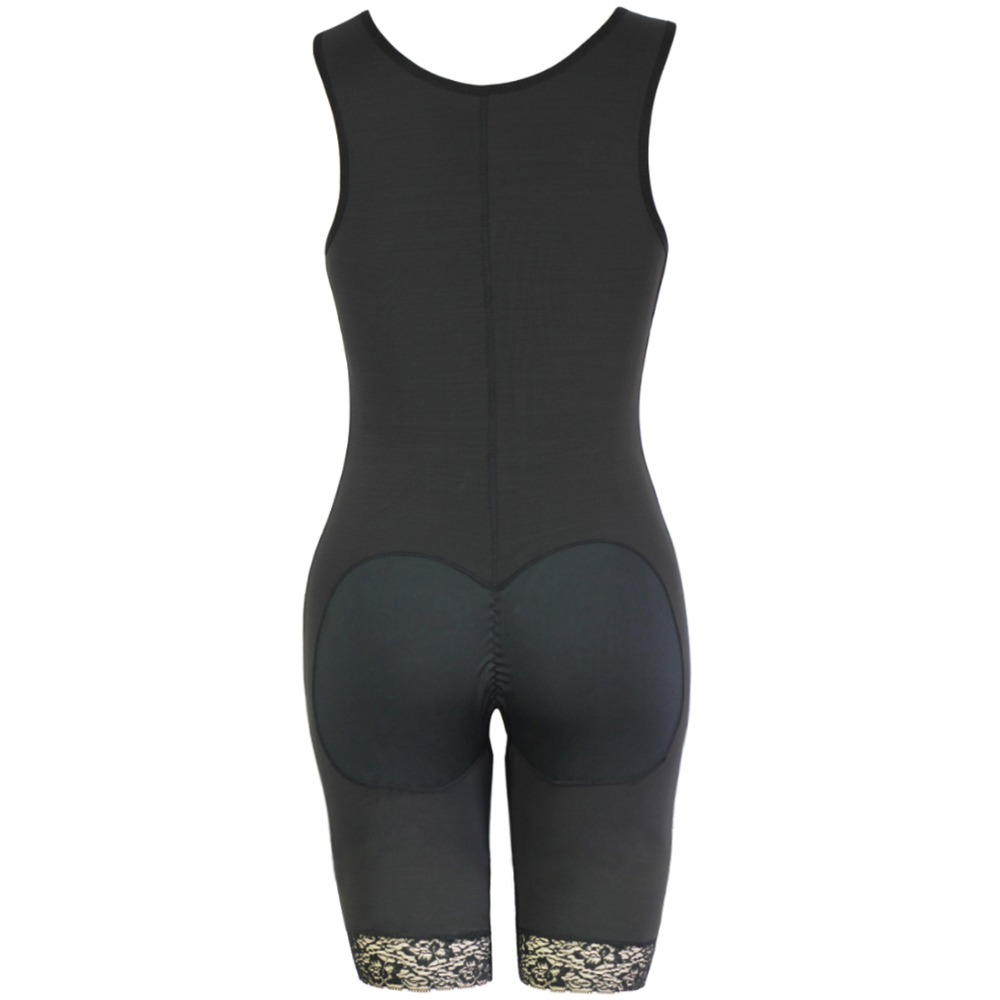 Women's Open Crotch Body Shaper Tummy Control Underwear Black Beige Plus Size 6XL Bodysuit Deep V Overbust Adjustable Shapewear (4)