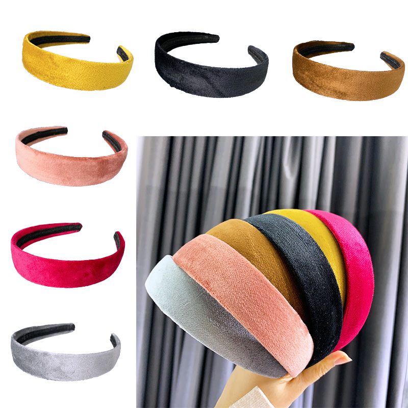 Chen Yan Lady Color Headband Woman Simple Headbands Fashion Suede Hairband FG1966