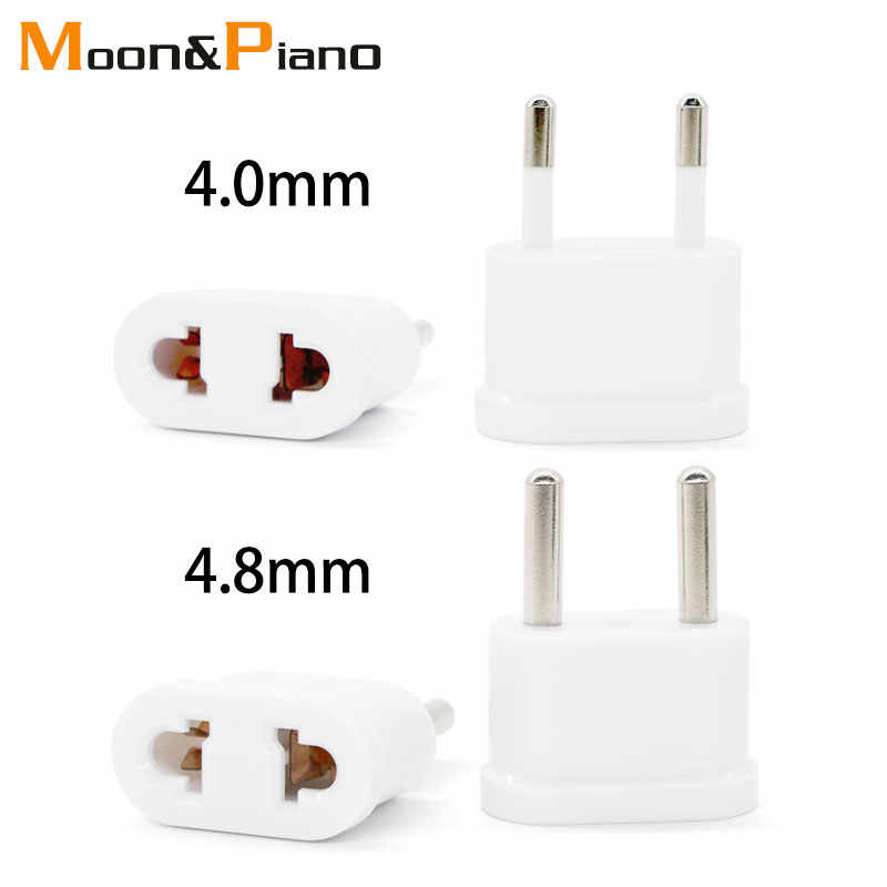 Ons EU Plug 4.0 4.8mm Converter Wall Charger Omschakeling Adapter Plug 1pc Wit Reizen Power Conversion Plug adapter Europa