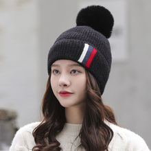 Зимние шапки 2020 женская модная вязаная шерстяная шапка теплые
