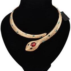 Креативное ожерелье-чокер из сплава в стиле панк, готика, змейка, золото/серебро, для женщин, модные вечерние ювелирные изделия