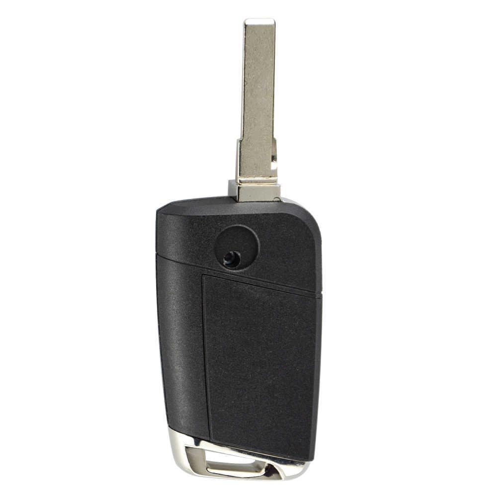OkeyTech フォルクスワーゲン VW ゴルフ MK7 シュコダオクタ A7 リモートスマート車のキー 5G0 959 753 BC 3 ボタン 433Mhz MQB 包茎 HU66 刃