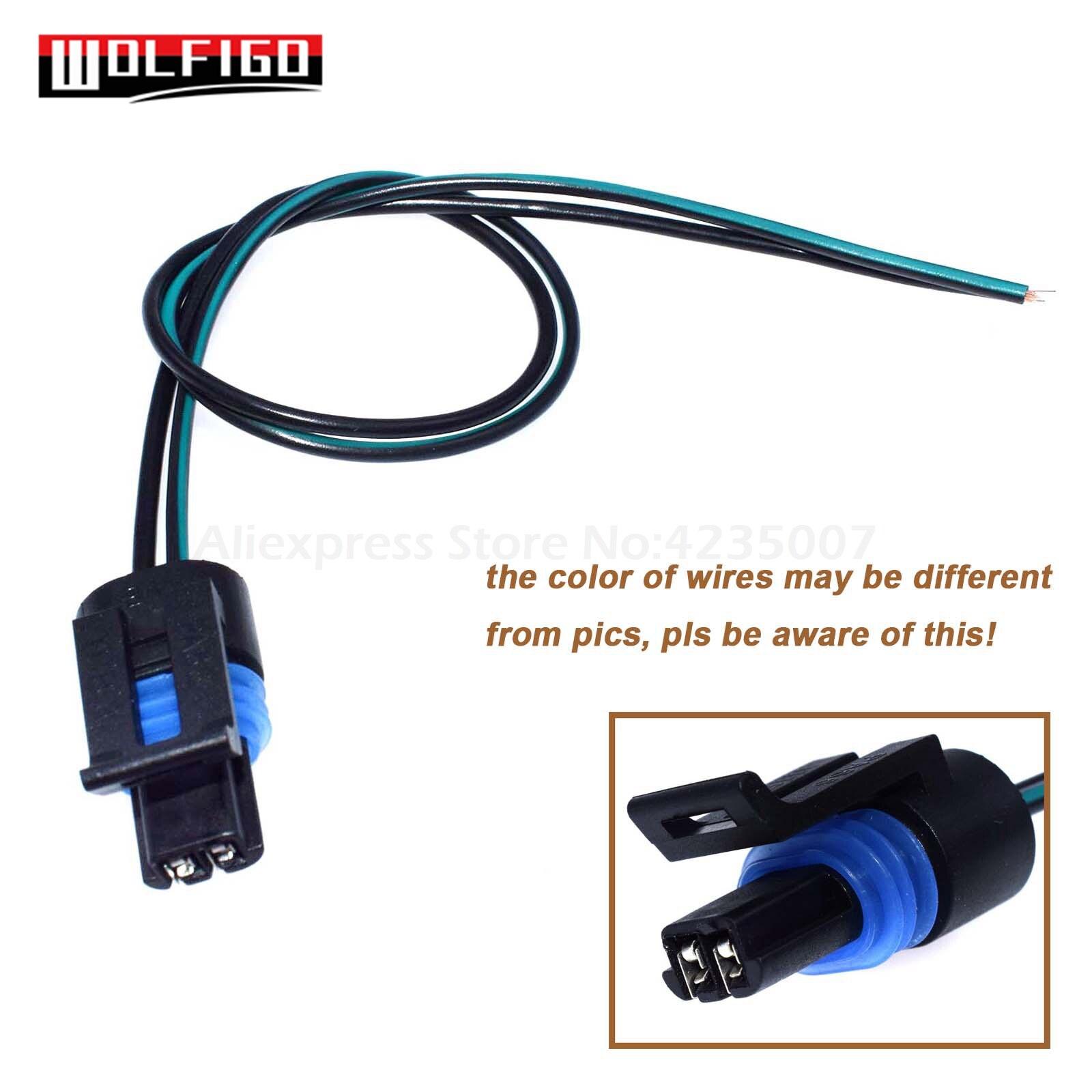 Wolfigo 1/5 pces t56 vss sensor de velocidade 2-way conector fiação trança para G-M lt1 ls1 transmissão pt169, 12046623,12067676