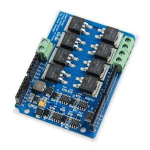 Image 3 - Elecrow 듀얼 채널 h 브리지 모터 Shield V1.5 드라이버 irf3205s mosfet dc 모터 8a 22 v 전자 diy 키트