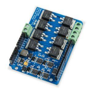 Image 3 - לelecrow כפולה ערוץ H גשר מנוע Shield V1.5 נהג IRF3205S MOSFET DC מנוע 8A 22V אלקטרוני ערכת DIY